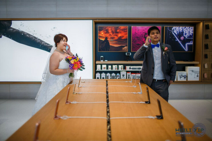 Cute Singaporean Couple Took Their Wedding Photos at The Apple Store - World Of Buzz 14