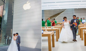 Cute Singaporean Couple Took Their Wedding Photos at The Apple Store - World Of Buzz 17