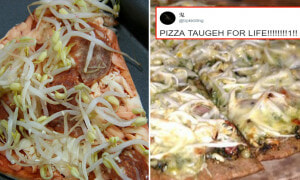 Guy on Twitter Posts Picture of 'Taugeh Pizza', Malaysian Netizens Freak Out - World Of Buzz 12
