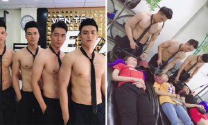 Handsome Hunks Attract Customers to Newly Opened Vietnam Beauty Salon - World Of Buzz 7