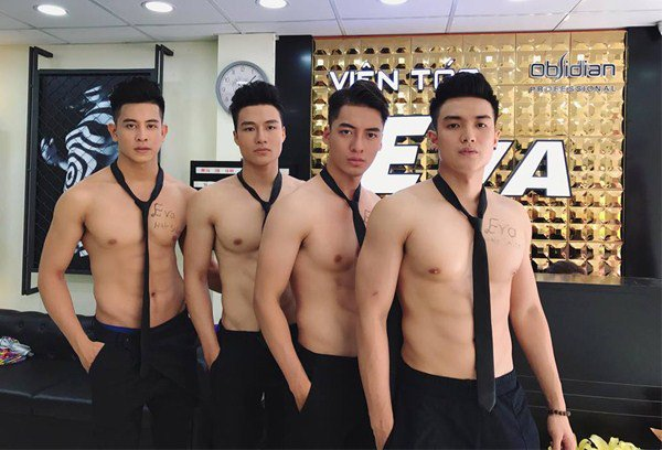 Handsome Hunks Attract Customers To Newly Opened Vietnam Beauty Salon - World Of Buzz