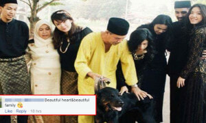 Hari Raya Family Photo with Dog Goes Viral, Warms Malaysians' Hearts - World Of Buzz 5