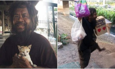 Homeless Man from Bangkok Sells Limes Just to Feed Beloved Stray Cat - WORLD OF BUZZ 4
