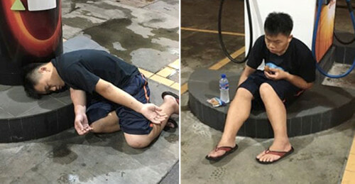 Malaysian Guy Pretends to be Fainting at Random Locations Just to Get Free Food - World Of Buzz