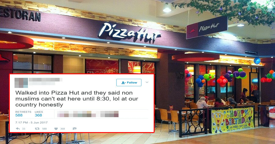 Malaysian Netizen Complained Pizza Hut Only Serves Non-Muslims After 8.30, Pizza Hut Responds - World Of Buzz 7