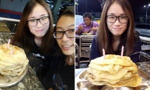 Malaysians Ingeniously Buy 20 Pieces of Roti Canai for Friend's Birthday Cake - World Of Buzz 3