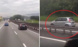 Silver Perodua Myvi Spotted Driving Against Traffic on PLUS Highway in Viral Video - World Of Buzz 1