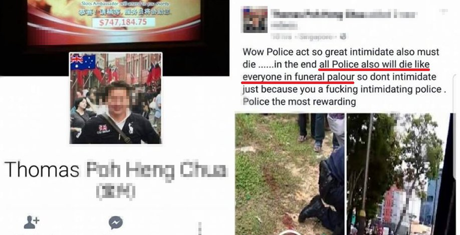 Singaporean Man Who Insulted Dead Police Officer On Fb Arrested For Shoplifting - World Of Buzz