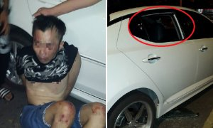 Thief Smashing Car Windows Caught by Angry Crowd at Kepong Night Market - World Of Buzz 4