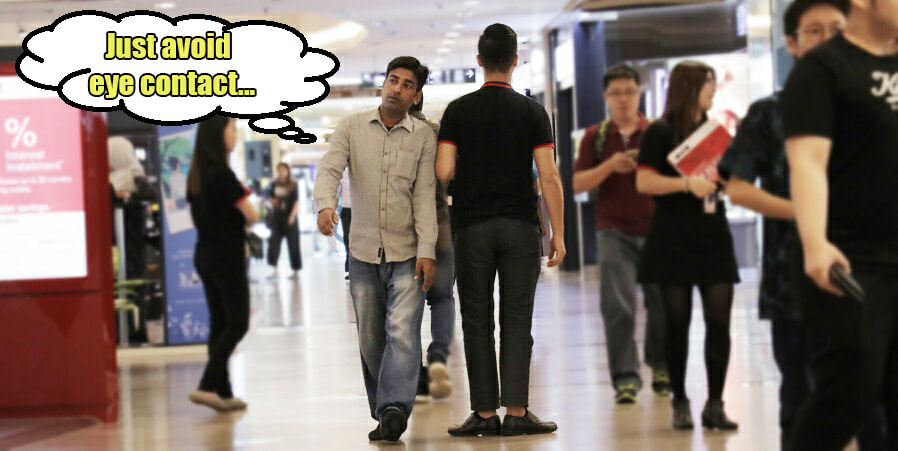 10 Funny Things Malaysians Do to Avoid Pushy Promoters - World Of Buzz 9