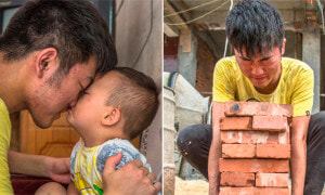 Chinese Teen Works as Labourer to Save His 3-Year-Old Brother With Leukemia - World Of Buzz