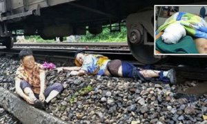 Heroic Young Man Loses Right Leg to Save Old Lady from Oncoming Train - World Of Buzz 5
