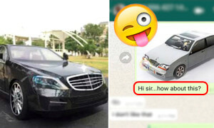 Malaysian Man Selling Mercedes Plays Along With Scammer Just to Troll Him At the End - World Of Buzz