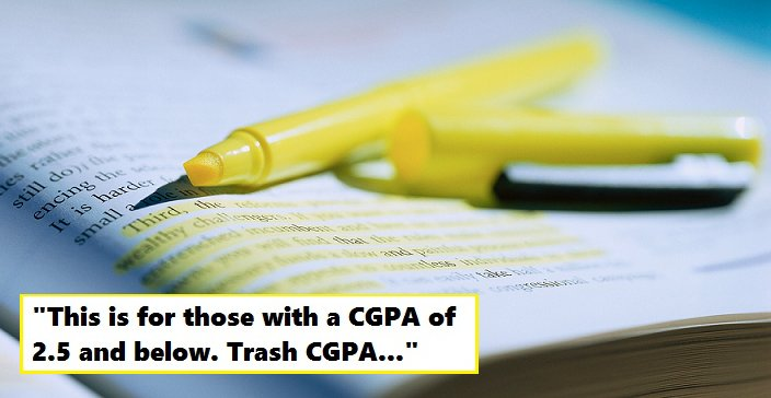 Malaysian Reminds Uni Students that Scoring a High CGPA is Not Everything - World Of Buzz