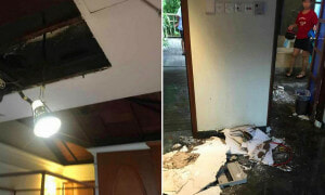 Malaysian Shares Scary Moment Their Port Dickson Chalet's Ceiling Collapsed - World Of Buzz 6