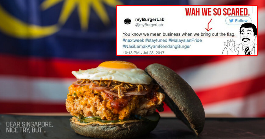 MyBurgerLab Releases Their Version of Nasi Lemak Burger, Singaporeans Are Mad - World Of Buzz