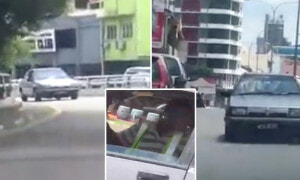 Proton Saga Spotted Reversing on Main Road, Netizens Admire Driver's Mad Skills - World Of Buzz