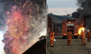 Scary Videos of Johor Factory Filled with Fireworks Catching Fire Goes Viral - World Of Buzz