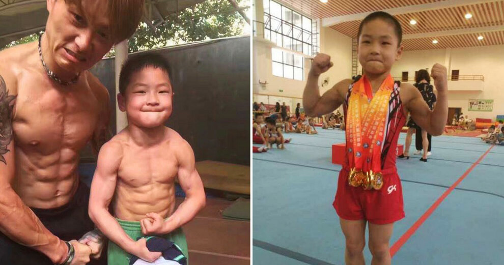 This 7-Year-Old Wows Netizens With His Eight-Pack and Gold Medals - World Of Buzz 6