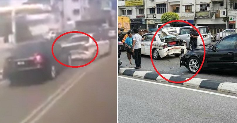 Video of Malaysian Driver Crashing into Police Patrol Car Goes Viral - World Of Buzz 2