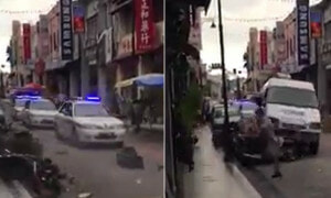 Video of Violent Car Chase in Penang is Actually for a Hong Kong Movie - World Of Buzz