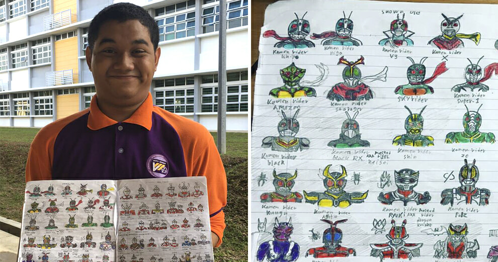 Autistic Malaysian Student Stuns Internet With Hundreds of Neatly Drawn Superheroes - World Of Buzz