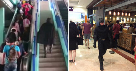 Batman Spotted At Lrt Station And In Klcc, Malaysian Netizens Confused - World Of Buzz 5