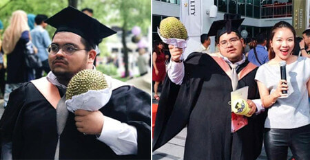 M'sian Uni Student Receives Durian During Convo, Thought His Friends Were Joking - World Of Buzz