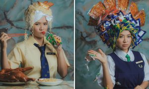Photographer Recreates Childhood Memories Using Retro Snacks as Headdresses - World Of Buzz 6