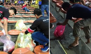 Pictures of Malaysian and Myanmar Fans Cleaning Up Stadium Goes Viral - World Of Buzz 3