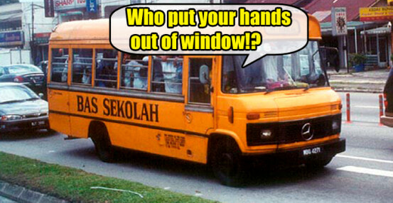 12 Things Only Malaysians Who Have Taken 'Bas Sekolah' Before Will Understand - WORLD OF BUZZ
