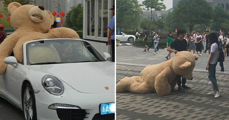 Guy Buys Rm6,300 Teddy To Confess His Love, Crush Chooses Bear Instead - World Of Buzz 6