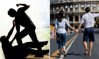 M'sian Man Assaults Couple for Kissing in Front of Rome Mosque - WORLD OF BUZZ 3