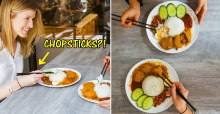 PappaRich Australia Under Fire After Photos of Nasi Lemak Being Eaten with Chopsticks Go Viral - WORLD OF BUZZ 12