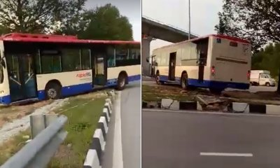 RapidKL Bus Driver Suspended for Making Illegal U-Turn Over Divider in Viral Video - WORLD OF BUZZ 6
