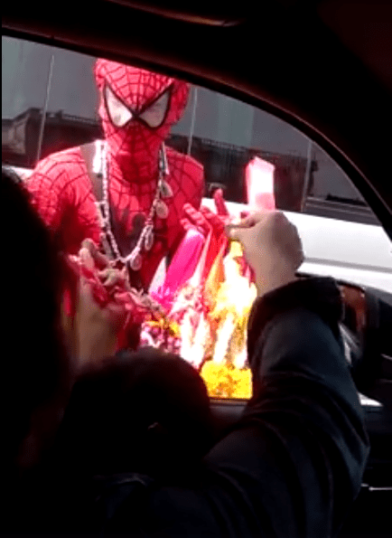 """""""spider-Man"""" Seen Rushing To Help Motorcyclist Injured In Accident - World Of Buzz"""