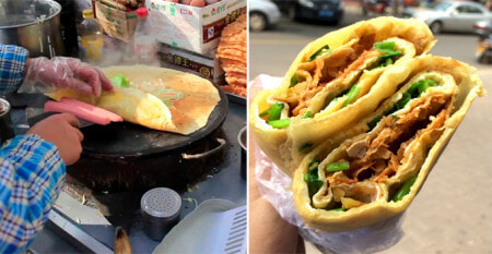 This Street Food Vendor Earns At Least RM63,000 Per Month From Selling 'Jianbing' - WORLD OF BUZZ