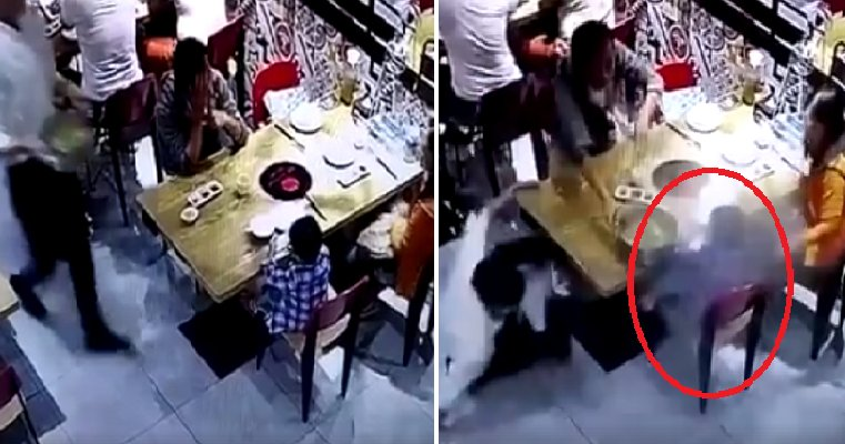 Viral Video Shows Poor Child Getting Scalded By Hotpot Soup Spilled By Careless Waiter - World Of Buzz 3