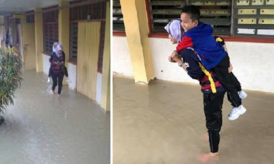 Amazing Malaysian Teacher Carries Schoolchildren Across Flood Waters to Safety - WORLD OF BUZZ 7