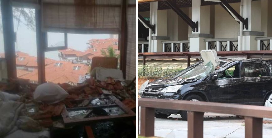 Explosion Causes Port Dickson Hotel Roof To Collapse And Injure Couple - World Of Buzz 8