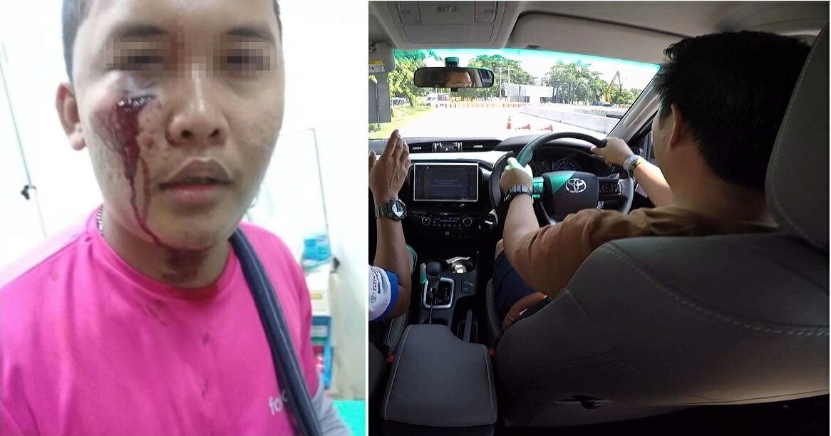 Foodpanda Rider Kicked Off His Bike And Punched In The Face By Angry Road Bully - World Of Buzz 4