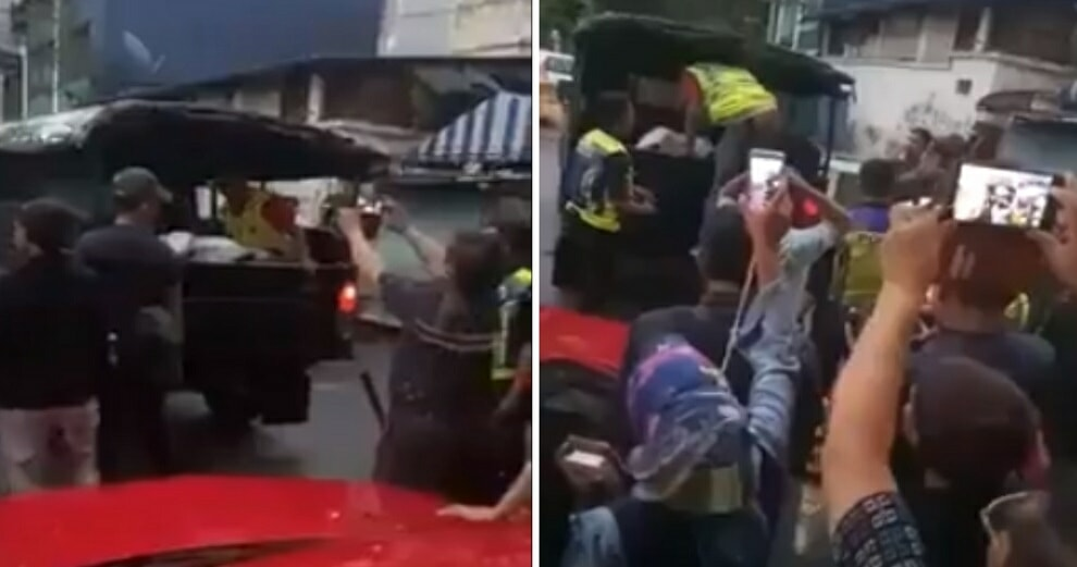 Group Of People Rush To Record Body Of Murdered Woman Transported From Kg Baru Hotel - World Of Buzz 4