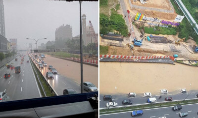 It Has Begun: Federal Highway In Midvalley Area Badly Flooded From Heavy Downpour - World Of Buzz