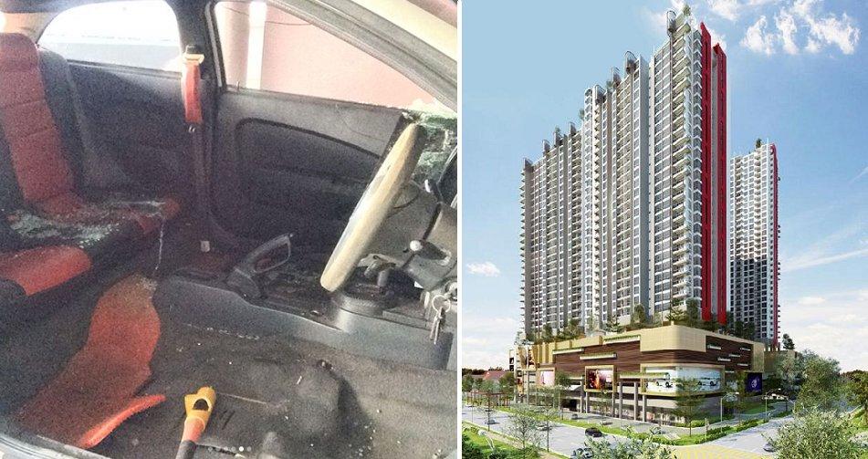 Malaysian's Car Interior Completely Stripped Right Inside Setapak Condominium - World Of Buzz