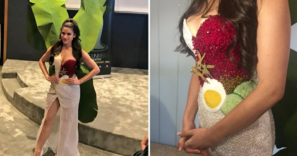Miss Universe Malaysia's National Costume Was Just Revealed, and it's Nasi Lemak-Inspired! - WORLD OF BUZZ 12