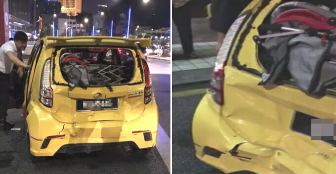 M'sian Lady Denied of Claiming Insurance After Being Rear-Ended by Ambulance, Police Say Otherwise - WORLD OF BUZZ