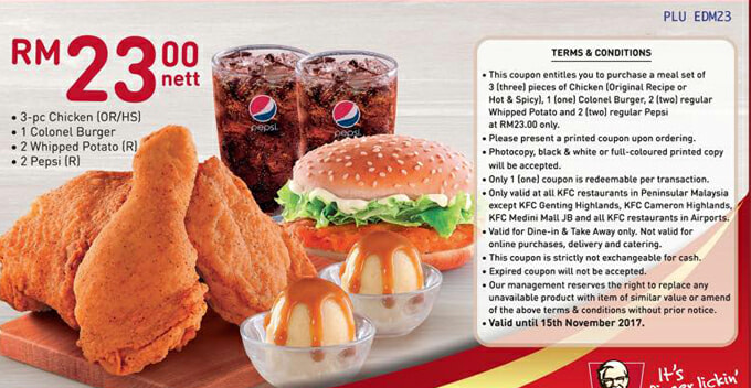 Print This Kfc Voucher As Many As You Wish And Enjoy Fried Chicken All Day Every Day! - World Of Buzz