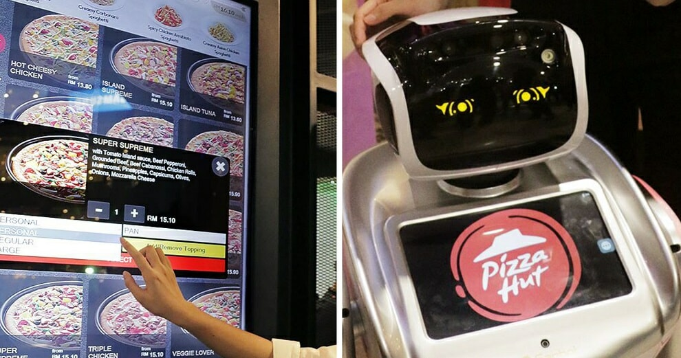 Sunway Pyramid's Pizza Hut Branch Now Has Digital Takeaway Kiosks And Robot Waiters! - World Of Buzz 9