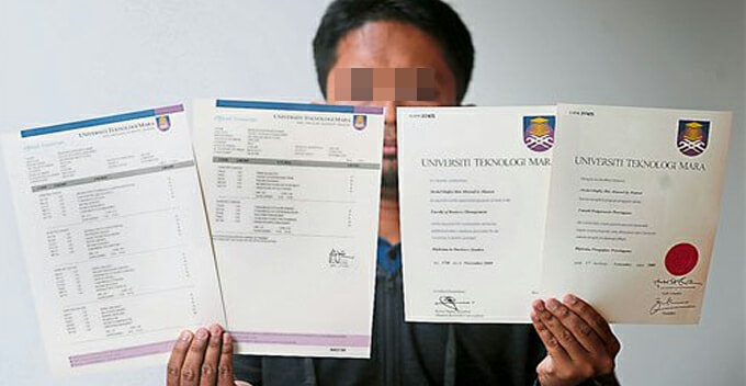 Syndicate in Puchong Sells Fake Scrolls From UiTM and Segi College For as Low as RM1,000 - WORLD OF BUZZ