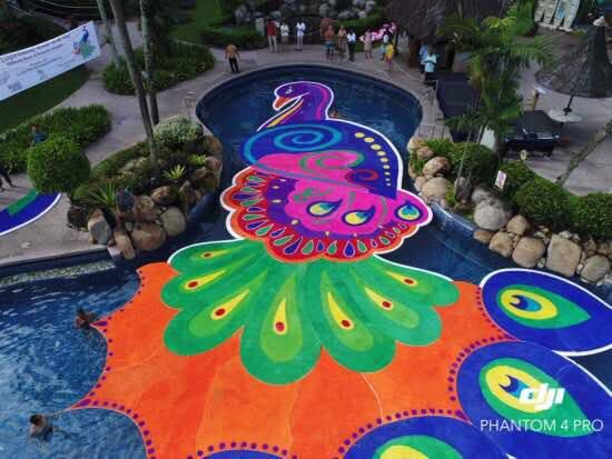 This 'Floating Festive Kolam' Just Made It into The Book of Records, Netizens Amazed - WORLD OF BUZZ 2